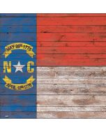 North Carolina Flag Dark Wood Generic Laptop Skin
