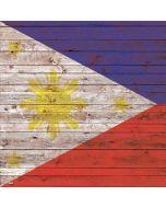 Philippines Flag Dark Wood Apple iPad Skin