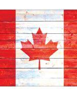 Canada Flag Light Wood Apple iPod Skin