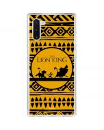 The Lion King Tribal Print Galaxy Note 10 Clear Case