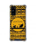 The Lion King Tribal Print Galaxy S20 FE Clear Case