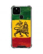The Lion of Judah Rasta Flag Google Pixel 5 Clear Case