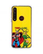 Thor vs Loki Moto G8 Plus Clear Case