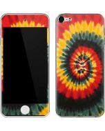 Tie Dye - Rasta Spiral Apple iPod Skin