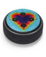 Tie Dye Heart Amazon Echo Dot Skin
