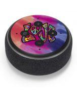Tie Dye Peace & Love Amazon Echo Dot Skin