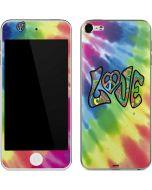 Tie Dye Peace & Love Apple iPod Skin
