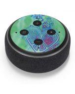 Tie Dye Peace Heart Amazon Echo Dot Skin