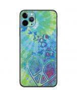 Tie Dye Peace Heart iPhone 11 Pro Max Skin