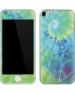 Tie Dye Peace Heart Apple iPod Skin