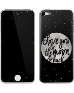 To The Moon And Back BW Apple iPod Skin