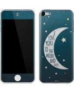 To The Moon And Back Apple iPod Skin