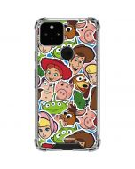Toy Story Outline Google Pixel 5 Clear Case