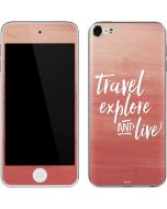 Travel Explore and Live Apple iPod Skin