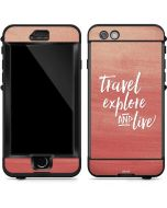 Travel Explore and Live LifeProof Nuud iPhone Skin