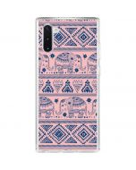 Tribal Elephant Pink Galaxy Note 10 Clear Case