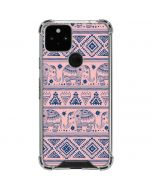 Tribal Elephant Pink Google Pixel 5 Clear Case