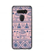 Tribal Elephant Pink LG K51/Q51 Clear Case