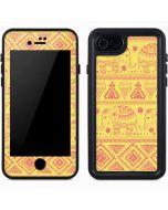 Tribal Elephant Yellow iPhone 7 Waterproof Case
