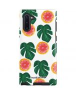 Tropical Leaves and Citrus Galaxy Note 10 Pro Case