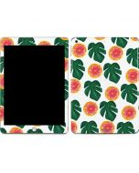 Tropical Leaves and Citrus Apple iPad Skin