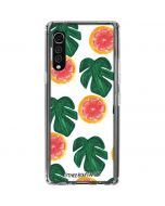 Tropical Leaves and Citrus LG Velvet Clear Case