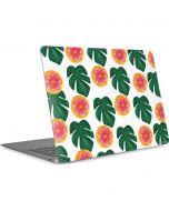 Tropical Leaves and Citrus Apple MacBook Air Skin