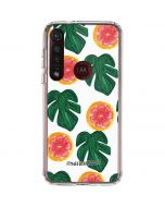 Tropical Leaves and Citrus Moto G8 Plus Clear Case