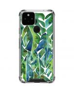 Tropical Leaves Google Pixel 5 Clear Case