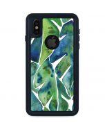 Tropical Leaves iPhone XS Waterproof Case