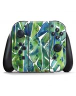Tropical Leaves Nintendo Switch Joy Con Controller Skin