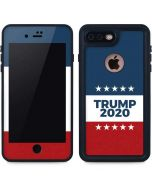 Trump 2020 Red White and Blue iPhone 8 Plus Waterproof Case