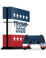 Trump 2020 Red White and Blue PS4 Console and Controller Bundle Skin