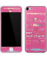 Trust in the Lord Pink Apple iPod Skin