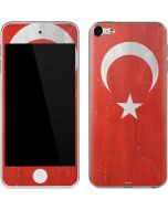 Turkish Flag Distressed Apple iPod Skin