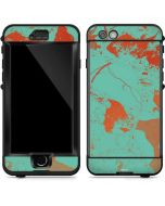 Turquoise and Orange Marble LifeProof Nuud iPhone Skin
