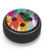 Turquoise Brush Stroke Amazon Echo Dot Skin