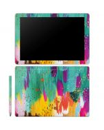 Turquoise Brush Stroke Galaxy Book 10.6in Skin
