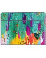 Turquoise Brush Stroke Galaxy Book Keyboard Folio 10.6in Skin