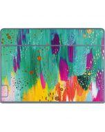 Turquoise Brush Stroke Galaxy Book Keyboard Folio 12in Skin