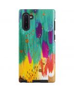 Turquoise Brush Stroke Galaxy Note 10 Pro Case