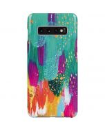 Turquoise Brush Stroke Galaxy S10 Plus Lite Case