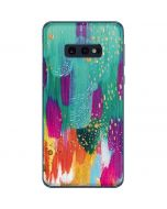 Turquoise Brush Stroke Galaxy S10e Skin