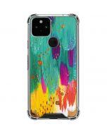 Turquoise Brush Stroke Google Pixel 5 Clear Case