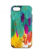 Turquoise Brush Stroke iPhone 8 Pro Case