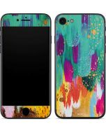 Turquoise Brush Stroke iPhone 8 Skin