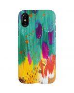 Turquoise Brush Stroke iPhone X Pro Case