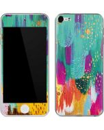 Turquoise Brush Stroke Apple iPod Skin