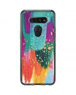 Turquoise Brush Stroke LG K51/Q51 Clear Case