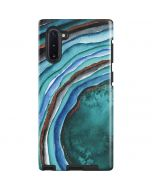 Turquoise Watercolor Geode Galaxy Note 10 Pro Case